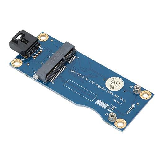 Socobeta Placa de Desarrollo PCI-E a USB2.0 confiable, Conveniente y de Larga duración para módulos de 30x50-51 mm para módulos 3G 4G