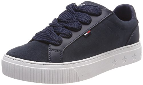 Hilfiger Denim Damen Tommy Jeans Ankle LACE Sneaker, Blau (Ink 006), 41 EU