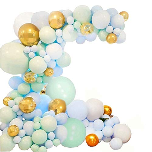ZDNB Balloons Garland Kit, for Balloon Arch, Boy Party, Baby Shower, Wedding Graduation Party(The product only includes balloons),Blue,Balloon Arch