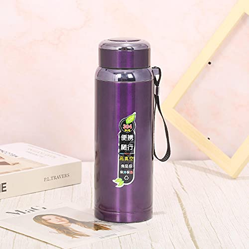 Sports Water Bottle, LeakProof Design for Teenager, Adult, Sports, Gym, Fitness, Outdoor, Cycling, School & Office-purple_600ml