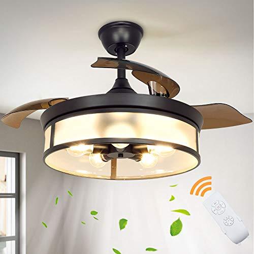 Depuley Industrial Ceiling Fan with Light, 42' Ceiling Fan with...