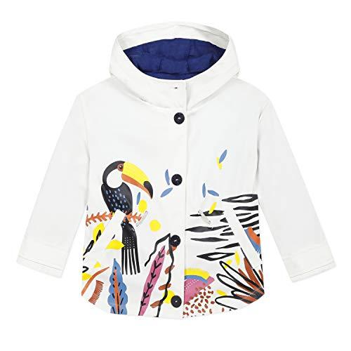 Catimini Mädchen Cq42075 Gomme Jacke, Weiß (Craie 13), 8 Jahre (Herstellergröße: 8A)