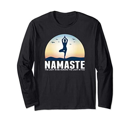 Yoga Namaste La luz En Mí Meditación Budismo Regalo Manga Larga