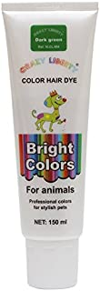 CRAZY LIBERTY Pets Hair Dye, Permanent Non-Toxic (Dark Green), Hypoallergenic, for Creative Grooming. Vivid Color. …
