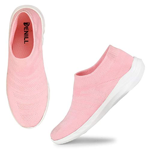 Denill Running,Walking, Sports,Gym Shoes for Women and Girls UK- 7 Pink