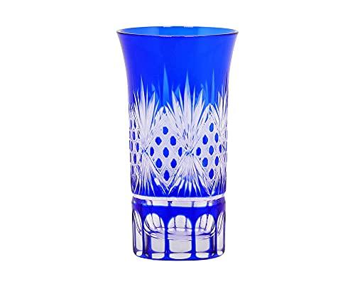 Corte a Mano Hecha a Mano para Limpiar el Conjunto de vinos de Cristal Azul Whisky Glass 2 Piezas-Pequeño Punto_101-200ml