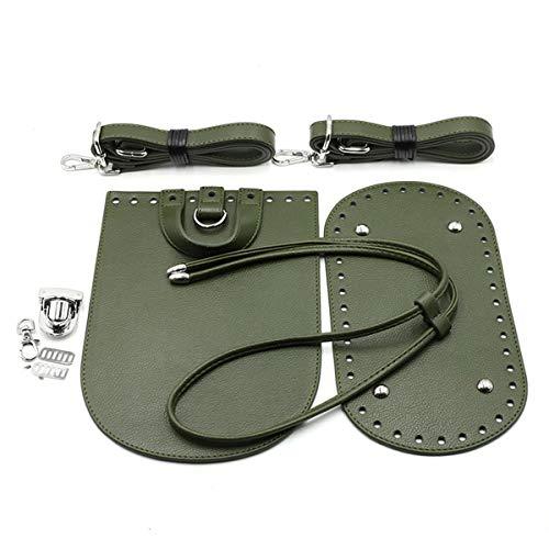 Zeagro Mochila de cuero correas DIY tejer ganchillo PU bolsa de cuero inferior Shaper bolso base Shaper monederos haciendo kit