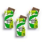 Pack 3 de Jabones Artesanales de Neem y Aceite de Árbol del Té de Extraherbos, Antiacné, Exfoliante