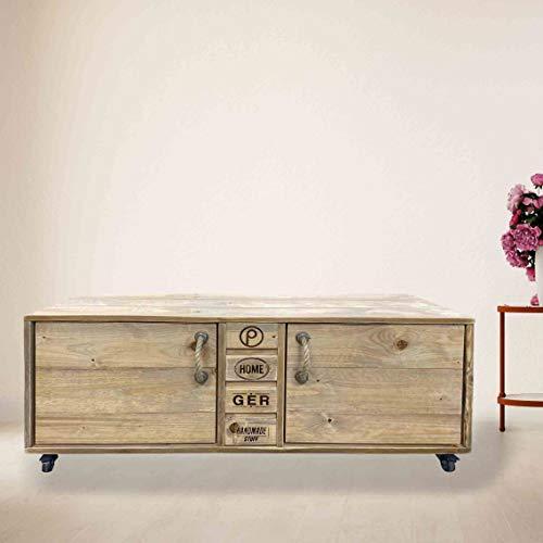 Palettenmöbel Kommode/Sideboard, TV-Board, SAN Francisco, Neuholz gebeizt in klassischer Paletten Optik, jedes Teil ist einzigartig und Wird in Deutschland in Handarbeit gefertigt