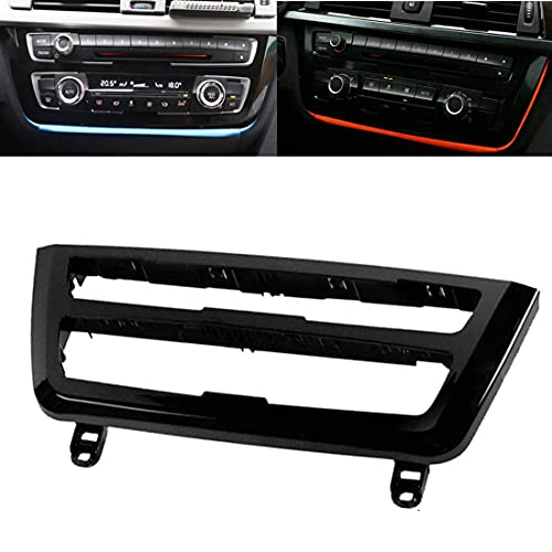 Luci LED Interne per Auto, Luce decorativa per interni Luce atmosferica Cruscotto Console centrale Arancione Blu ghiaccio Compatibile con BMW...