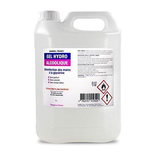 Gel Hydroalcoolique 5L - Fabriqué en France - teneur en alcool 70%