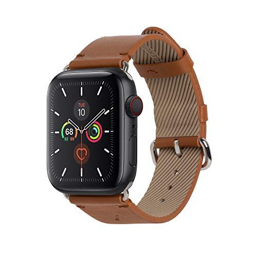 Native Union Cinturino Classic per Apple Watch 42/44 mm – Vera pelle Nappa italiana – Fibbia in acciaio inox con fodera in morbida pelle nabuk (Tan)