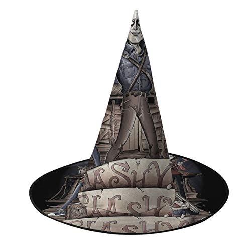OJIPASD Ashy Slashy Ash Vs Evil Dead Sombrero de Bruja Halloween Unisex Disfraz para día Festivo Halloween Navidad Carnaval Fiesta
