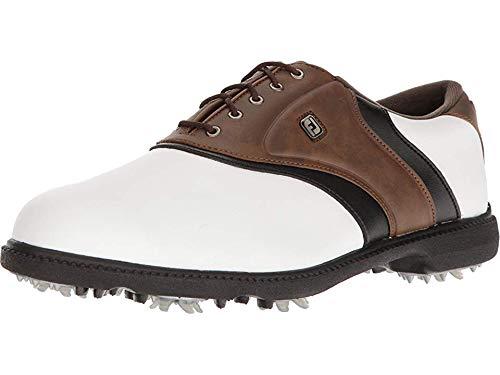FootJoy Men's Originals Golf Shoes White 11 M Brown, US