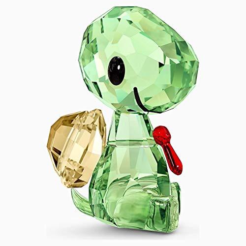 Swarovski Baby Animals - Figura Decorativa (Cristal  3 8 x 2 1 x 2 7 cm)  Color Verde y Dorado