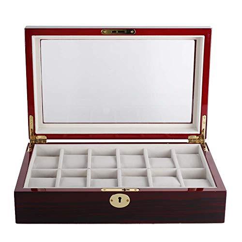 Caja De Almacenamiento Impermeable Con Forro De Terciopelo Suave De 12 Ranuras Para Escritorio Organizador Para Organizar Relojes