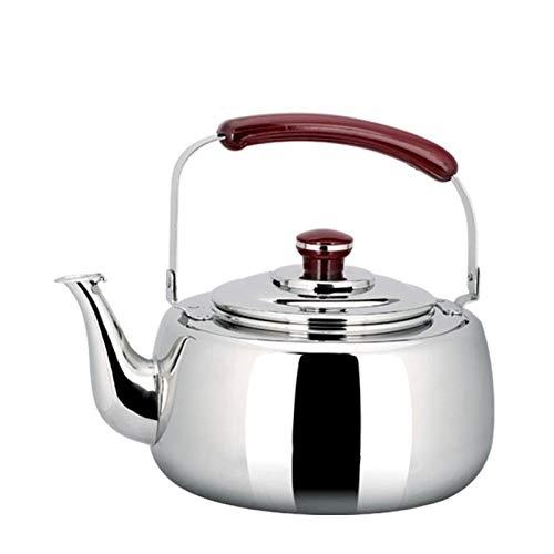 heat Stovetop - Hervidor de té con silbido, mango ergonómico para evitar quemaduras, muy adecuado para el hogar y la oficina de gran capacidad (tamaño: 3 L)