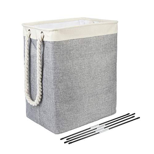 Cestas de lavandería – con soportes desmontables, cesta plegable para la colada, apta para dormitorios, cuarto de lavandería, baño, 50 x 42 x 31 cm, 65 l