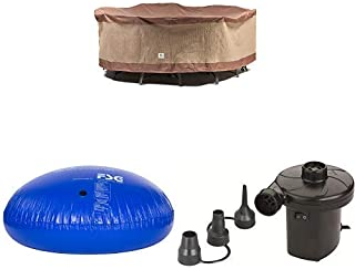 Duck Covers Ultimate Round Patio Table with Chairs Cover, 90-Inch with Duck Dome Airbag, 54