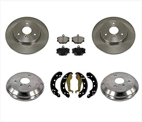 05-15 Smart Car Smart Fortwo FRT & RR Brake Rotors Drums Brake Pads Shoes