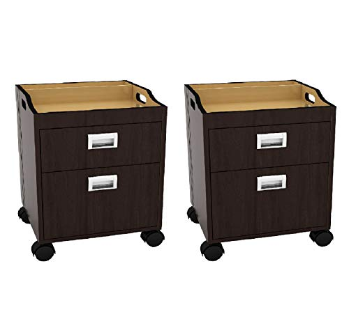 Set of 2 Berkeley Pedicure Trolley Pedicure Cart for Pedicure, Manicure, Nail Salon Furniture & Equipment