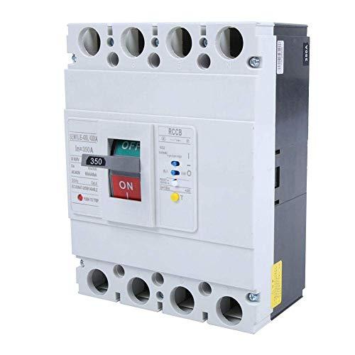 BEVANNJJ ZYY Interruptor de Circuito de Interruptor 800V 3P + N Protección de Fuga Todo Cobre Contact Circuito de Corriente (350A)