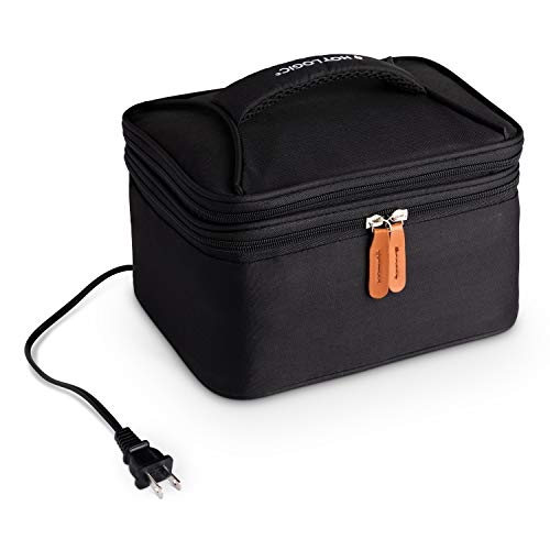 HotLogic 16801169-BLK Food Warming Tote Lunch Bag Plus 120V, Black