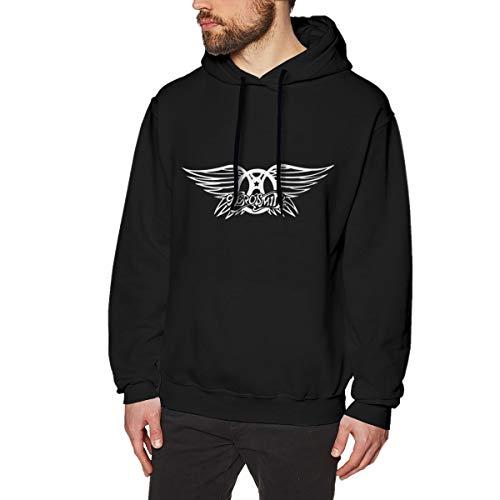 MOOKSWEAT Aerosmith Logo Hombre Divertido Clásico Sudaderas con Capucha Manga Larga Hoodie XL