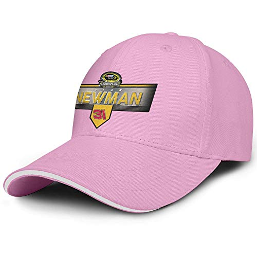 xinfub Gorra de béisbol Unisex para Mujer Talla única Ryan-Newman-2015-Chase-for-the-Sprint-Cup- Profile Stretch Cotton Adult Cap Net Red 23646