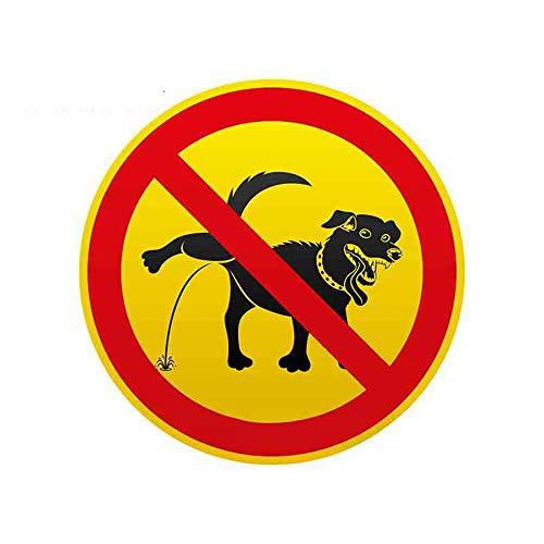 13 cm x 12,9 cm voor honden Orinar is verboden, persoonlijkheid, creatieve sticker voor auto, decoratie