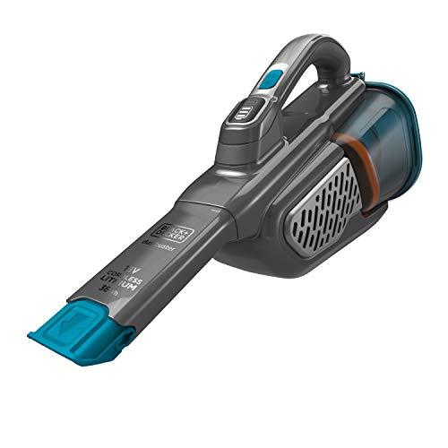 Black+Decker 36 Wh / 18 V Akku-Handstaubsauger Dustbuster Smart tech (mit Cyclonic Action & zwei Saugstufen, integrierte ausziehbare Fugendüse, inkl. Ladestation mit Wandhalterung) BHHV520BF
