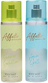 Affetto By Sunny Leone Summer Seduction & Aqua Spell Body Mist - For Women 200ML Each (400ML, Pack of 2)