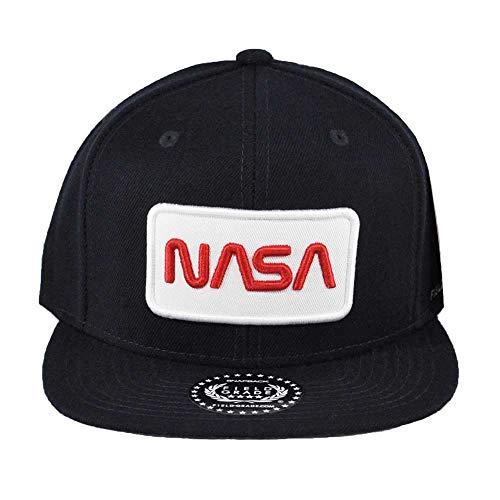 Boné Skylab NASA de grau de arquivo com patch de edição especial, Navy Worm Snapback, One Size
