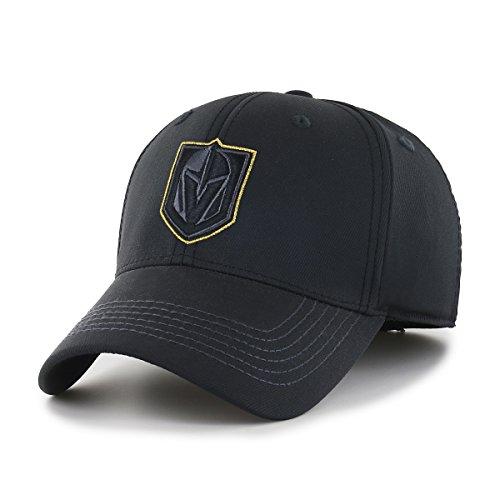 OTS NHL Vegas Golden Knights Men's Wilder Center Stretch Fit Hat, Black, Large/X-Large