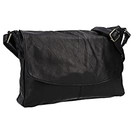 Gusti sac à bandoulière cuir dames – Maisie sac à main cuir petit noir