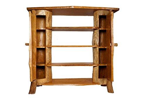 Windalf Hobbit-kast LOCKO h: 141 cm keukenkast houten kast kledingkast handgemaakt van wortelhout