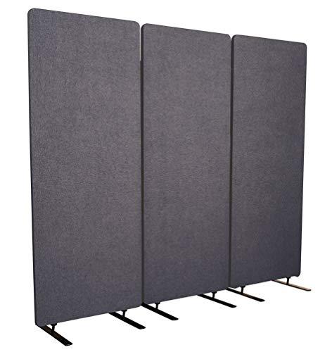 S Stand Up Desk Store ReFocus Akustik-Raumteiler - Büro-Trennwände (Ash Gray, 72