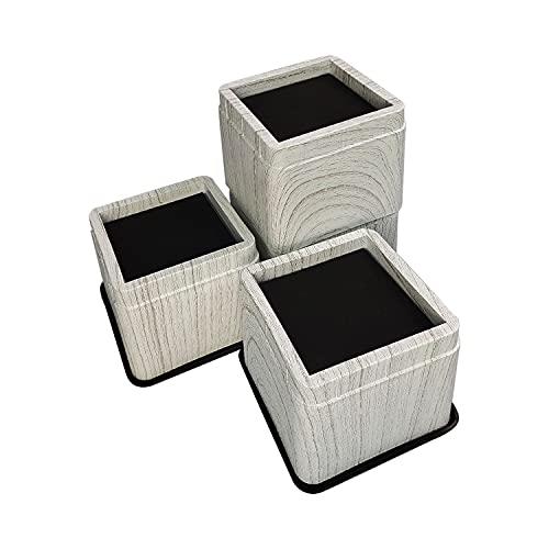 aspeike Elevadores apilables para cama y muebles de 7,5 cm, para elevadores ajustables de cama y muebles para sofás, escritorios, dormitorios, mesas y sillas, paquete de 4