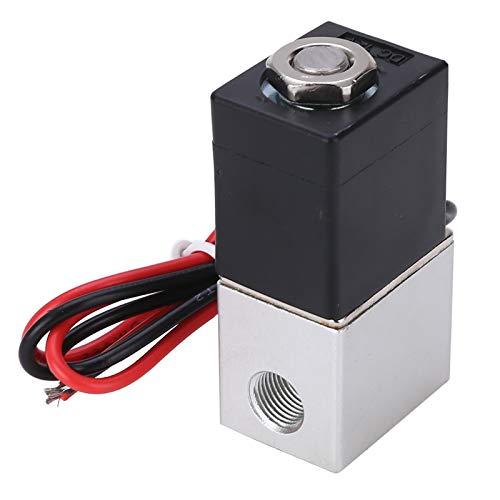 caja de batería marina Nueva normalmente cerrado Válvula electromagnética eléctrica DC 12V 1/8 pulgadas de 2 vías 2 posiciones de válvulas de solenoide for herramientas neumáticas Aire Agua