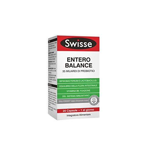 Swisse Entero Balance, Integratore Alimentare di Probiotici, 20 Capsule