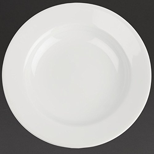 Classic White Rim Rimmed Plate large. Dimensions: 160 mm (6,25 \