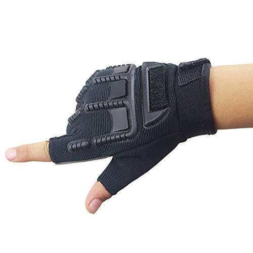 JMsDream Children Tactical Half Finger Gloves Riding Gear Roller Skating Mountain Bike Cycling Kids