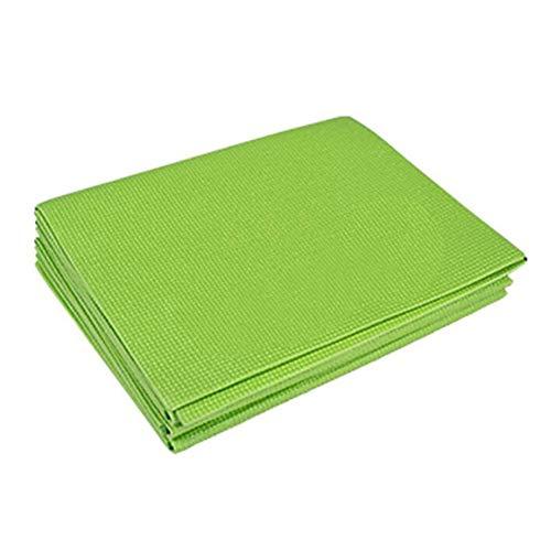 strimusimak Esterilla portátil gruesa para yoga, pilates, gimnasio, hogar, fitness, antideslizante, para ejercicios de gimnasia, color verde