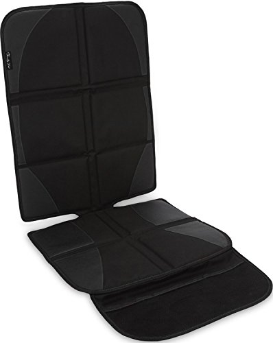 Car Seat Protector By Family First | Saver Cover Mat For Back Seat Leather Upholstery | Pad Front or Rear Facing Child Baby Carseats Booster Seats Travel