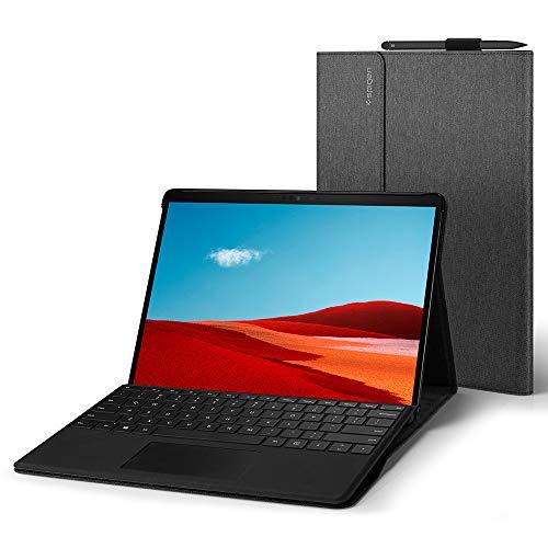 Spigen Stand Folio Kompatibel mit Microsoft Surface Pro X 13 Zoll Hülle (2020/2019) - Dunkelgrau