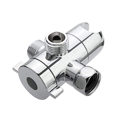 FFCVTDXIA Soporte de ducha personalizado de 1/2 pulgadas de tres vías T-adaptador de cabezal de ducha desviador montaje brazo de ducha interruptor soporte para el hogar ducha baño herramientas
