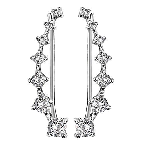 Pendientes de Mujer Pendientes Climber Lady 7 Cristal Pendientes Largos Hipoalergénicos