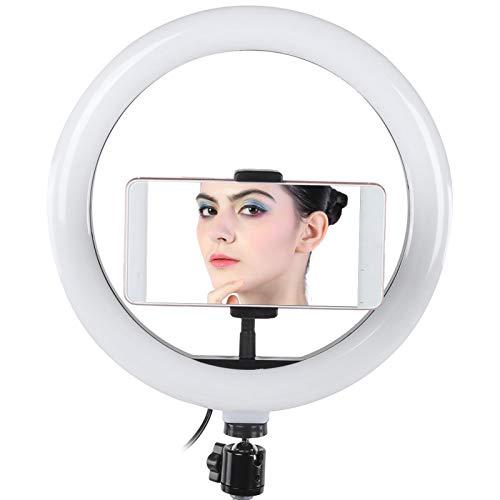 10 インチ リング ライト - RGB LED 調光ビデオ スタジオ フィル ライト、32006400K、高演色 - 360 度回転三脚ボール ヘッド - Vlog デジタル カメラ用