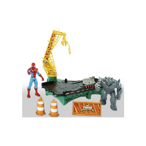 Hasbro Marvel B7199EU4 Spider-Man B7199EU4-Sinister 6 Web City Battle Spielset, Mehrfarbig