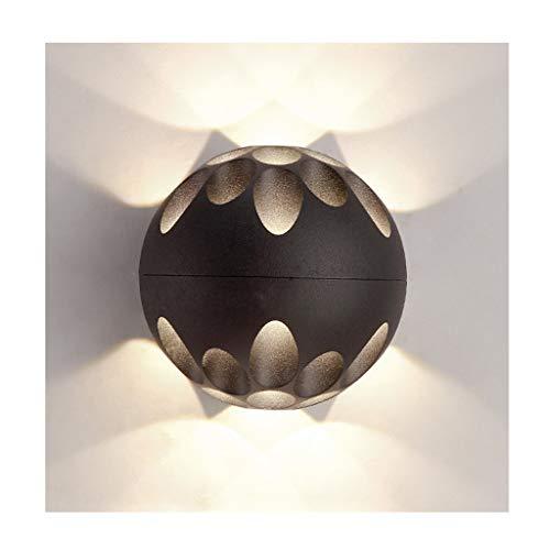 QQB Fashion-1 Applique Murale LED Design Iron LED Salon de Salon Chambre Inn Modern (Color : Black)